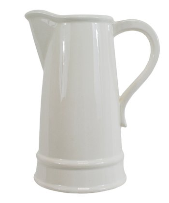 White Mirasol Tapered Pitcher