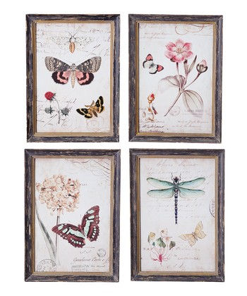 Butterfly & Dragonfly Wall Art Set