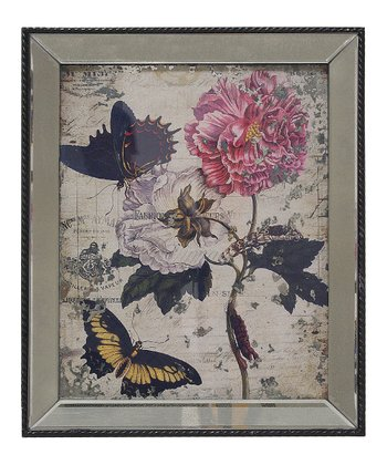 Flowers & Butterflies Wall Art