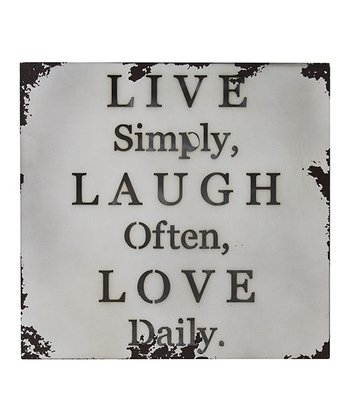 'Live Simply, Laugh Often' Metal Wall Art