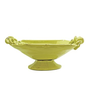 Yellow Provence Pedestal Bowl