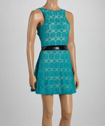 Jade Lace Drop-Waist Dress
