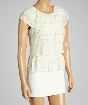 Young Essence White Dot Tiered Top