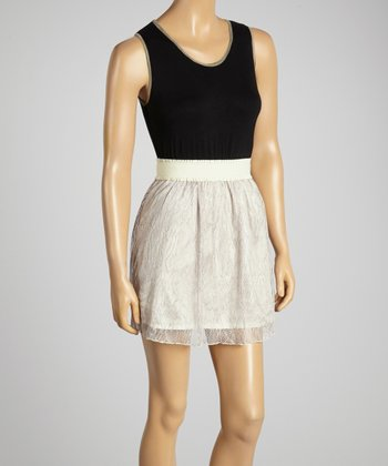 Young Essence Black & Beige Top