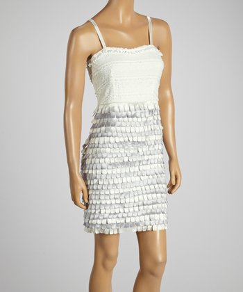 Young Essence Cream Tiered Dress