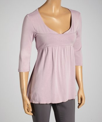 Young Essence Lilac V-Neck Top