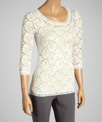 Young Essence White Lace Top