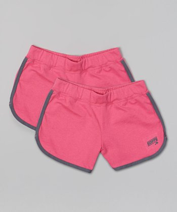 Pink Glo Postgame Shorts Set - Girls