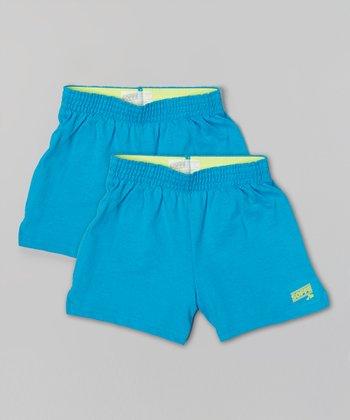 Atomic Blue Soffe Shorts Set - Girls