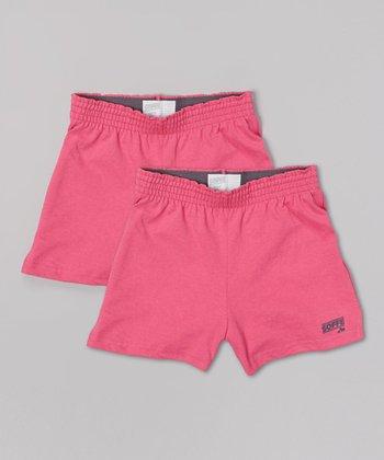 Pink Glo Soffe Shorts Set - Girls