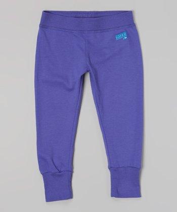 Neon Purple Year-Round Capri Pants - Girls