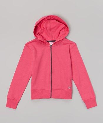 Pink Glow Year-Round Zip-Up Hoodie - Girls