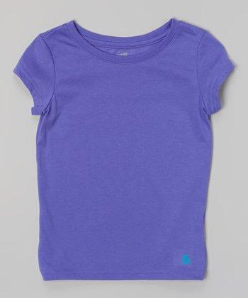Neon Purple New Basic Tee - Girls