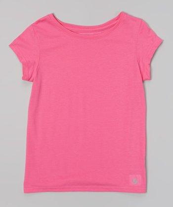 Pink Glo New Basic Tee - Girls