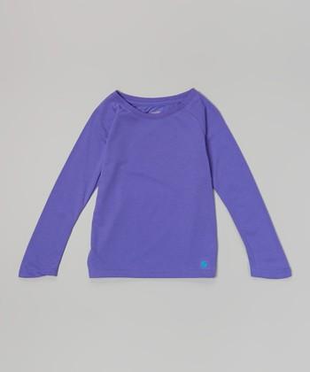 Neon Purple No Sweat Tee - Girls