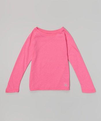 Pink Glo No Sweat Tee - Girls