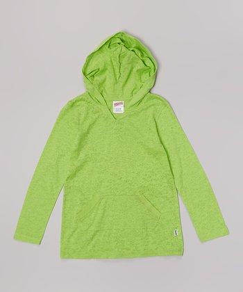 Lime Twist Burnout Hoodie - Girls
