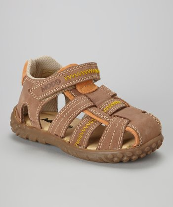 MOD8 Light Brown Samarche Leather Closed-Toe Sandal