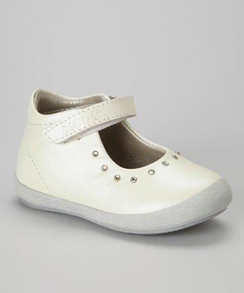 MOD8 White Flilette Leather Mary Jane