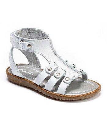 MOD8 White Horigan Leather Gladiator Sandal