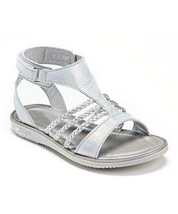 MOD8 White & Silver Hosens Leather Gladiator Sandal