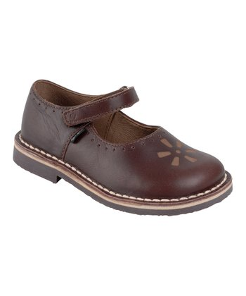 Aster Brown Dita Leather Mary Jane