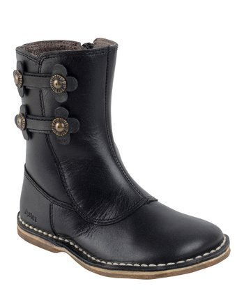 Aster Black Valentine Leather Boot