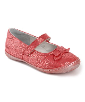 Aster Chili & Silver Mifrizba Leather Mary Jane