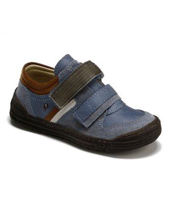 Aster Blue Utube Leather Sneaker