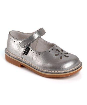 Aster Silver Dalia Leather Mary Jane