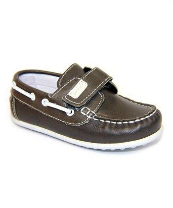 garvalin Gray Leather Boat Shoe