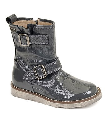 garvalin Gray Strap Leather Boot