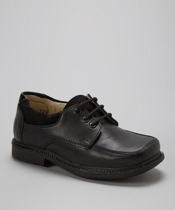 Little Dominique Black Standard Leather Dress Shoe