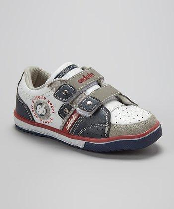 Aidele White & Blue Adjustable Sneaker