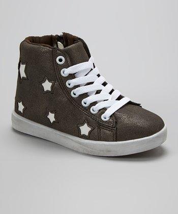 Aidele Black Star Hi-Top Sneaker