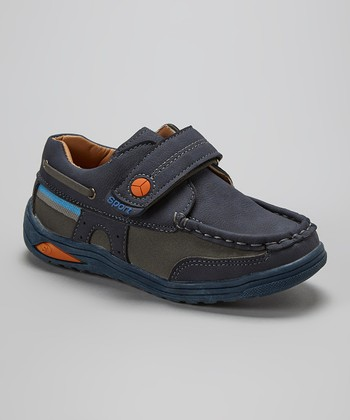 Leo & Sara Navy Adjustable Sneaker