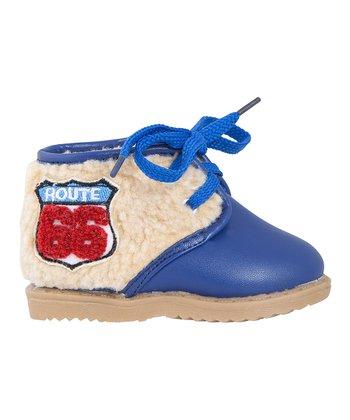 Mini Monkey Blue 'Route 66' Boot
