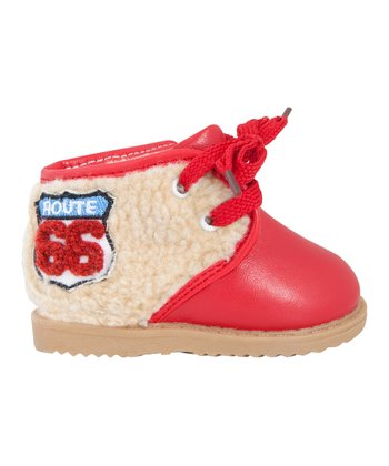 Mini Monkey Red 'Route 66' Boot