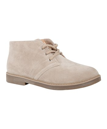 Fast Lee Beige Faux Suede Ankle Boot