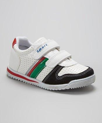 Renda White & Black Adjustable Sneaker