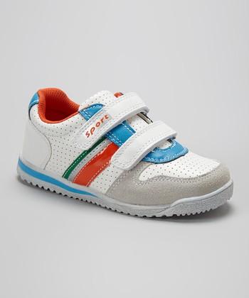 Renda White & Light Gray Adjustable Sneaker