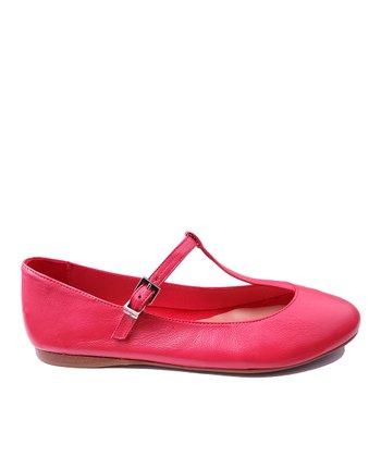 Papanatas Sandia Alfa Leather T-Strap Shoe