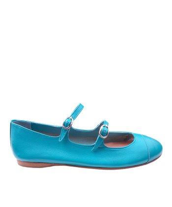 Papanatas Esmeralda Double-Buckle Alfa Leather Shoe