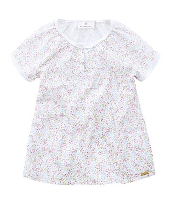 Pink & Blue Floral Jersey Tunic - Toddler & Girls