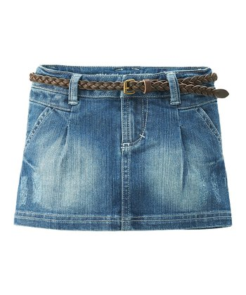 Medium Wash Denim Skirt - Infant, Toddler & Girls
