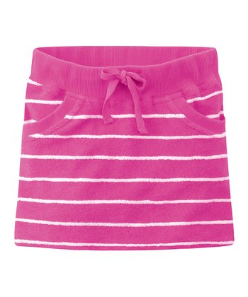 Medium Pink Stripe Terry Skirt - Infant, Toddler & Girls