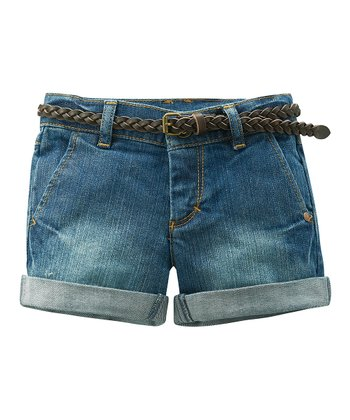 Medium Wash Denim Cuffed Shorts - Infant, Toddler & Girls