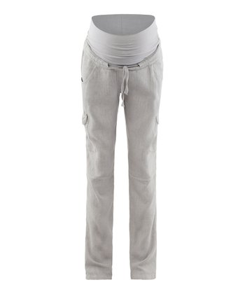 Sand Ran Linen Mid-Belly Maternity Pants