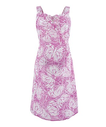 Pink & White Goda Butterfly Maternity Dress