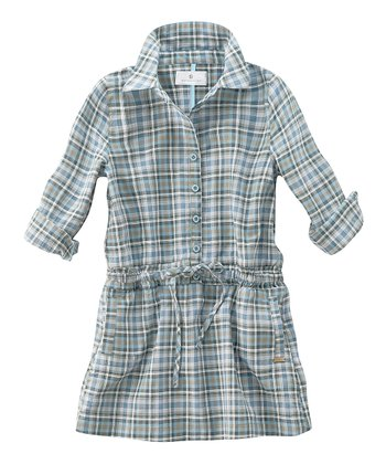 Blue Plaid Shirt Dress - Infant, Toddler & Girls